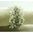 perla dekorace prsten ubrousku, akryl, 1.77inch, sada 12