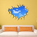 3Dの壁のステッカー壁のステッカースタイル青い空と白い雲PVCウォールステッカー