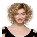 bez krytky vysoce kvalitní krátké kudrnaté blond syntetické paruky