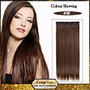 5 klipy dlouhé rovné med hnědé (# 12), umělých vlasů klip na prodlužování vlasů pro dámy