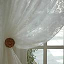2パネル ウィンドウトリートメント 田舎風 / 現代風 / 新古典主義 / ロココ調 / バロック調 / 欧風 / デザイナー ベッドルーム ポリ/コットン混 材料 シアーカーテンシェード ホームデコレーション For 窓