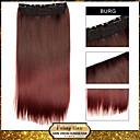 ombre klip dalam ekstensi rambut lurus sopak sintetis burg