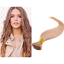 Brazilský i tip keratin prodlužování vlasů rovné vlasy 1g / s prebonded vlasy 100s / balení nezpracovaný panna prodloužení vlasů