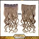 24inch 60 cm 120 g barva 16 # klip na prodlužování vlasů vlnitý klip na příčesky