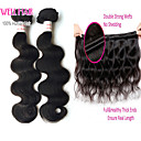 3Pcs Lot Peruvian Body Wave Hair Wefts Mix Length 8-30 Inches Virgin Human Hair Extensions #1B Color