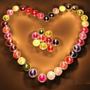 アロマキャンドルホルダーフルーツカラーキャンドルロマンチックな告白の告白シーングラフキャンドルディナーセット