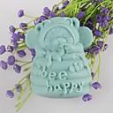 nesou včelí šťastný tvarované mýdlo plísní plíseň fondant dort čokoláda Silikonová forma, dekorace nástroje bakeware