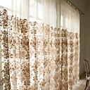 2パネル ウィンドウトリートメント 田舎風 / 現代風 / 新古典主義 / ロココ調 / バロック調 / 欧風 / デザイナー リビングルーム ポリ/コットン混 材料 シアーカーテンシェード ホームデコレーション For 窓