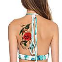5ks / set blesk vodotěsný květiny&papoušek dočasné tetování nálepka