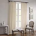 Dva panely Window Léčba Evropský / Designové / Země / Moderní / Středomořský , Jednolitý Obývací pokoj Směs lnu a bavlny Materiálzáclony