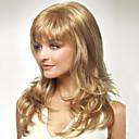 capless dlouhé ženy styl přírodní zdravé vlasy vlna dívka kudrnaté blond paruky