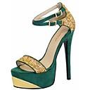 Ženske cipele - Sandale - Ured i karijera / Formalne prilike / Zabava i večer - Flis - Stiletto potpetica - Cipele otvorenih prstiju -