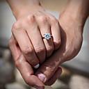 Prstýnky Módní Svatební Šperky Zirkon / Postříbřené Dámské Prsteny s kamenem 1ks,Jedna velikost Stříbrná