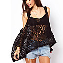 Women's V-Neck Lace Vests , Lace Sexy/Casual Short Sleeve Zhuoxini