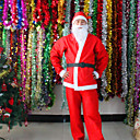 5 v 1 červené muži Santa Claus kostýmy vánoční oblečení muž cosplay vánoční kostým s kloboukem vousy opasek kalhot
