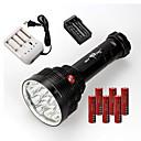 LED svjetiljke LED 3 Način 22000 Lumena Vodootporno / Može se puniti / Otporan na udarce / štrajk oštrica / Taktički / Hitan Cree XM-L T6