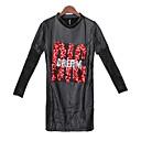 Neformalan Majice i bluze - ŽENE - Krug - Dugi rukav ( Polyester / PU )