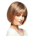 """bob střih lidské vlasy krátké přírodní přímý monofilní top (1 """") dámská bez krytky paruka"""