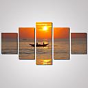 Slobodno vrijeme / Pejzaž / Photographic / Romantični Canvas Print Pet ploha Spremni za objesiti , Horizontalan