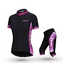 SANTIC® Biciklistička majica s kratkim hlačama Žene Kratki rukav Bicikl Prozračnost Majica + tajice / Kompleti odjeće/odijela Polyester
