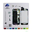 iPhone 5用の磁気ネジマット技師修理パッドガイド