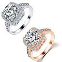 Prstenje Vjenčanje / Party / Dnevno Jewelry Kristal / Legura Žene / Par Prstenje za parove 1pc,9 Zlatna / Srebrna