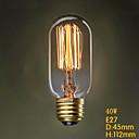 t45 220v 40w fil rectiligne terrasse couloir ampoule Edison Edison de la personnalité lampe déco rétro d'art
