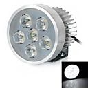 18w 6000k filaire 1200lm lumière blanche 6-conduit moto phare projecteur - argenté