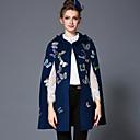 aofuli zime vezene leptir vunene ženske europe modni berba plus size labav zgusnuti kapuljačom rta kaput