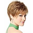 Nový stylový blond hnědá barva krátké vlnité syntetické vlasy, paruky
