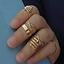 Prstýnky Nastavitelná Párty / Denní / Ležérní Šperky Slitina Dámské Midi prsteny 1Nastavte,Nastavitelný Zlatá