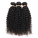 ブラジル変態巻き毛の深いカーリーブラジルヘア3pcsのロットブラジル変態カーリーバージン毛