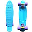 Klasična plastike skateboard (22 inča) cruiser odbora pastelno plava sa ljubičastim kotačima