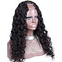 緩い波U部分かつらペルーの処女の人間の髪の毛の未処理の緩いウェーブ完全密度2x4inch中央部とU部分