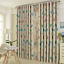 Dvije zavjese Europska Cvjetni / Botanički Bež / Plav Bedroom Polyester Blackout Zavjese Zavjese