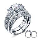Prstenje,Sterling srebro Kubični Zirconia / imitacija Diamond Jewelry Plastika Prstenje sa stavom