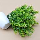 Vysoce kvalitní zelené rostliny květiny hedvábí květina hedvábí květina umělé květiny pro domácí dekorace květina kit 1ks / set
