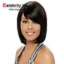 Europa i SAD-kratka ravna kosa modni dama crna kemijskog vlakna lažna glava sintetička perika