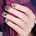 Okouzlující barevné nail art obtisky převod vody nail art samolepky tipů, cartoon obtisky nail art zábal dekorace