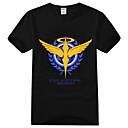 Inspirirana Gundam Gundam Anime Cosplay nošnje Cosplay majica Print Crna Kratki rukav T-majica