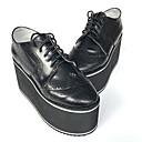 Punk Lolita Koža 8 Wedge Crn Lolita obuća