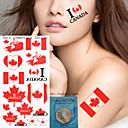 Yimei-タトゥーステッカー-Non Toxic / Waterproof-女性 / 男性 / 大人 / 青少年-紙-19*9CM-パターン-6Pcs/Lot =5pcs temporary tattoos +1pcs cleansing wipes個