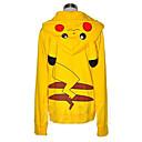Kigurumi Pyžama Pika Pika Kapuce Festival/Svátek Animal Sleepwear Halloween Žlutá Patchwork Bavlna Kigurumi Pro Unisex Halloween