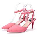 Ženske cipele-Sandale-Formalne prilike-Brušena koža-Stiletto potpetica-Štikle / Špicoke / Cipele zatvorenih prstiju-Crna / Crvena / Siva