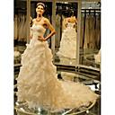 Plesové šaty Drobná / Nadměrné velikosti Svatební šaty Extra dlouhá vlečka Srdce Tyl s