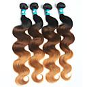 4pcs / puno 3t Brazilski djevica dlačica val 1b / 27/4 # ombre ljudske kose plete