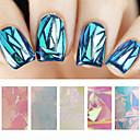 Sažetak-Ostale dekoracije- zaPrst / nožni prst-5cmX20cm each piece-5pcs glass nail art foilskom. -PVC