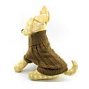 猫用品 / 犬用品 セーター ブラウン 犬用ウェア 冬 / 春/秋 ゼブラプリント