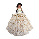 Princeza Kostimi Za Barbie lutka Bijela / Crna Haljine / Šeširi / Rukavice Za Djevojka je Doll igračkama