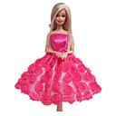 プリンセスライン ドレス ために バービー人形 フクシア ドレス のために 女の子の 人形玩具